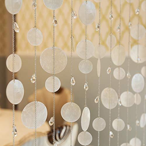 BLSTY Mehrfarbig Perlenvorhang, Dekoration Fadenvorhang Trennwand Fenster Vorhang für Wohnzimmer Terrasse Raumtrennung Perlenvorhang-100x180Cm(39x71Zoll)-C