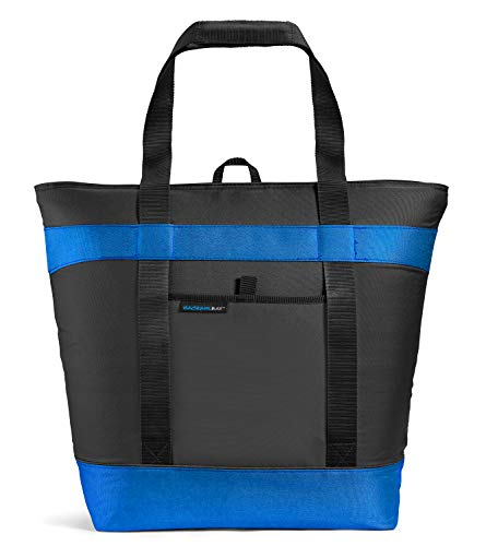Rachael Ray Jumbo Chill Out Thermal Tote Insulated Grocery Shopping Bag, Black