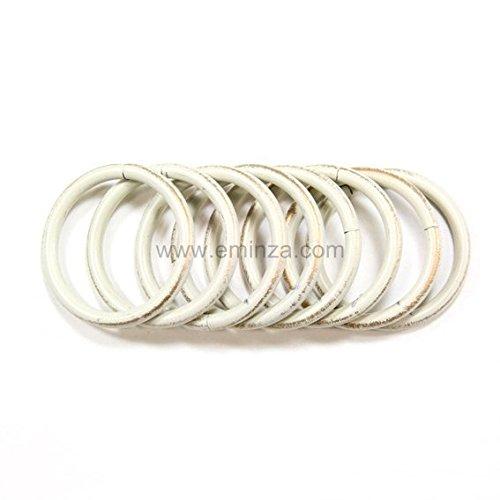 Ringen voor gordijnroede Ø 19 mm, kleur ivoor en goud, 8 ringen