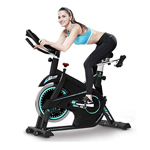 WJFXJQ Indoor Ejercicio Bicicleta Spinning Ciclismo Bicicleta Estacionaria W/LCD Pantalla LCD Equipo de Aptitud Ajustable Fitness, Versión actualizada