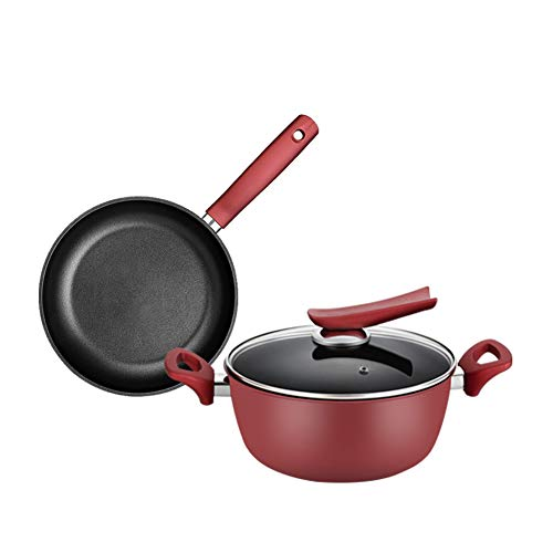 Bols et casseroles de cuisine ensemble batterie de cuisine, ensemble de casserole antiadhésive poêle à frire marmite couvercle en verre | induction, convient pour la cuisine familiale restaurant ro