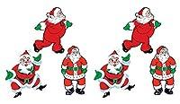 Beistle 20057 ヴィンテージクリスマスサンタカットアウト 18インチ レッド/グリーン/ホワイト/ブラック