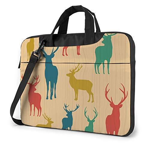 Deer Show Unisex Laptop Shoulder Bag Messenger Case for Computer Briefcase Carrying Sleeve