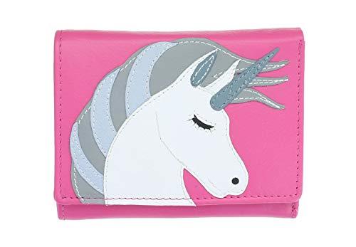 Mala Leder Amara Kollektion Compact Leder Geldbörse RFID 3474_28 Pink