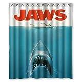 Cortina de Ducha a Prueba de Agua Impresa Personalizada Nueva película submarina de tiburón Juvenil