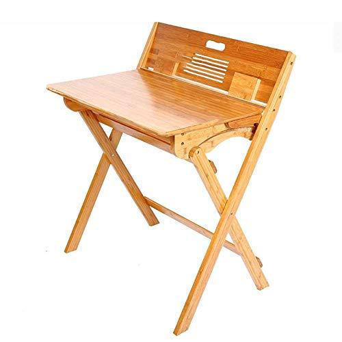 IREANJ Mesa plegable de escritorio para niños, escritorio plegable para estudiantes, con caja de almacenamiento