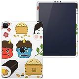 igsticker iPad Pro 12.9 インチ inch 2020 対応 シール apple アップル アイパッド 専用 A2229 A2069 全面スキンシール フル タブレットケース ステッカー 保護シール 012872 節分 鬼 豆
