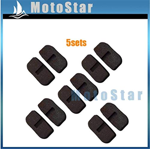 Great Features Of scooter 5sets 47cc 49cc Disc Brake Rotor Caliper Pads Shoe for 2 Stroke Gas Minimo...
