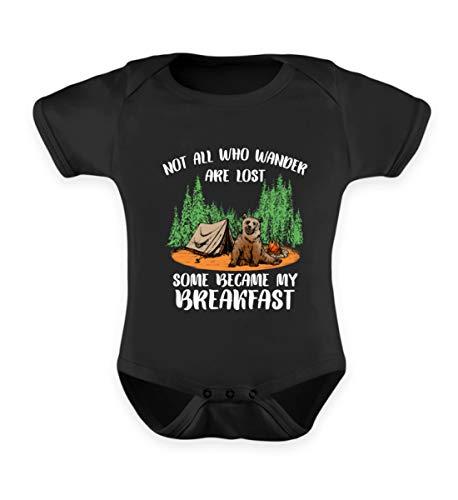 EBENBLATT Lustig Bär Camping Urlaub Spruch Wald Frühstück Campingzelt Feuer Geschenk Geschenkidee - Baby Body
