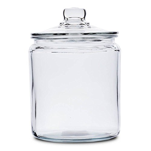 Anchor Hocking 77916 Heritage Hill Canister, Glass, 1/2-Gallon .5 gallons