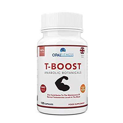 Testosterone Boosters | Anabolic Performance Enhancer & Libido Booster | Botanical Testosterone Booster for Men | Contains 10 Potent Ingredients to Reduce Cortisol and Stress Levels Including Maca Root, Ginkgo Biloba & Korean Ginseng | 120 Capsules | OSHU