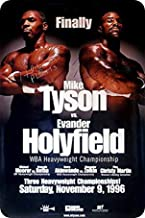 Uptell Metal Wall Sign Mike Tyson Evander Holyfield Poster Classic Box Fight Decor Bed Garage Vintage