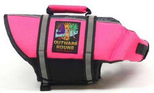 Outward Hound Pet Saver Life Jacket, Pink, X-Small