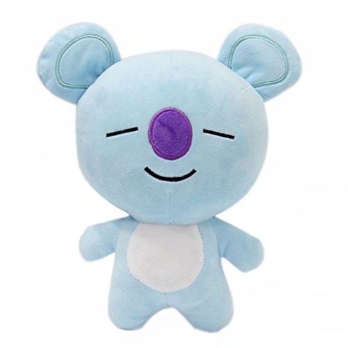 Yovvin BTS Plüschtiere, Kpop Bangtan Jungen Weiche Plüsch Kissen Puppe für Sofa Schlafzimmer Auto, Beste Geschenk für The ARMY (KOYA)