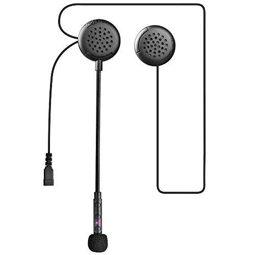 Fodsports F1 Motorradhelm Intercom Headset, Bluetooth 5.0 Helm Kopfhörer Kommunikation, Freisprechanlage Anrufe, Music, FM Radio, Noise Control Motorrad Gegensprechanlage