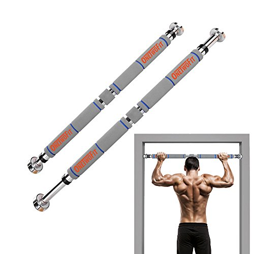 OneTwoFit Pull Up Bar Doorway Chin Up Bar Household Horizontal Bar Home Gym Exercise Fitness OT033