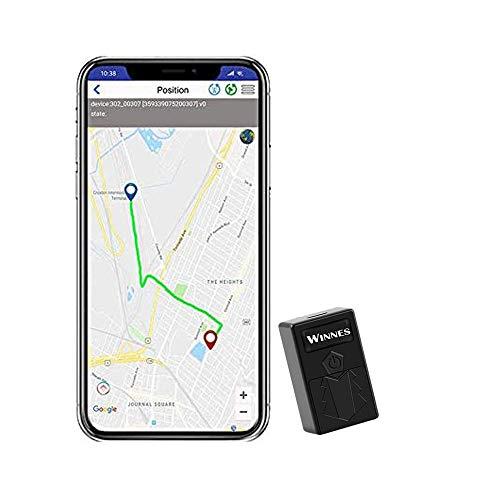Zeerkeer Mini GPS Tracker,TK 921 Localizador GPS para motocicleta, Rastreador GPS antirrobo con posicionamiento de WiFi portátil posicionamiento en tiempo real 150 horas en espera