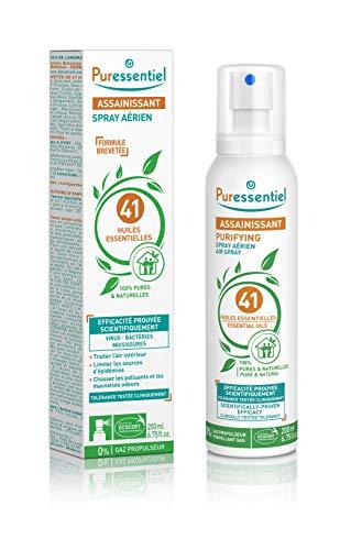 Puressentiel - Spray Aérien Assainissant aux 41 Huiles Essentielles - Efficacité prouvée contre les virus, germes et bactéries - 200ml