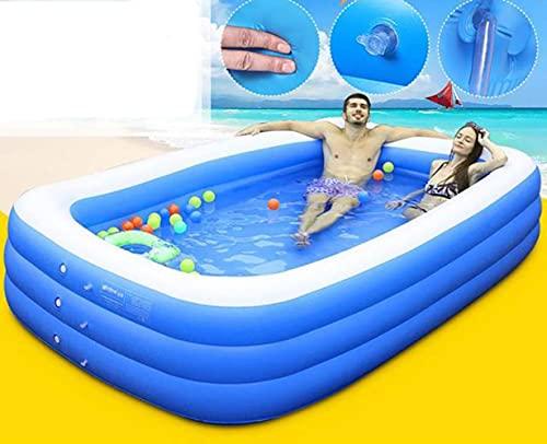 7ft 210CM Rechthoekig Opblaasbaar Zwembad Peuterbad Bad Buiten Zomer Zwembad Lente Voor Kinderen Volwassen