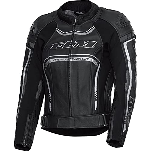 FLM Motorradjacke mit Protektoren Motorrad Jacke Sports Damen Lederkombijacke 3.1 schwarz 36, Sportler, Ganzjährig