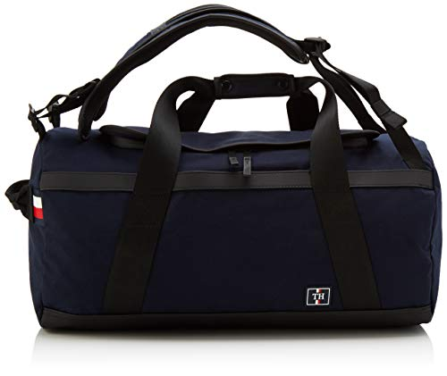 Tommy Hilfiger Herren Nautical Canvas Conv Weekender Schultertasche, Mehrfarbig (Sky Captain), 0.1x0.1x0.1 centimeters