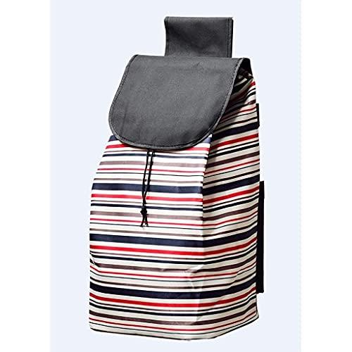 WYZXR Einkaufstasche 40L Einkaufswagen Ersatztasche Einkaufswagentasche,Oxford Tuch wasserdichte Aufbewahrungstasche (Größe: 30x24x55cm) (Color : A)