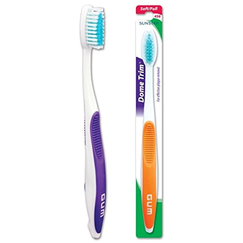 開いた大型トラック調和GUM Dome Trim Soft Toothbrush
