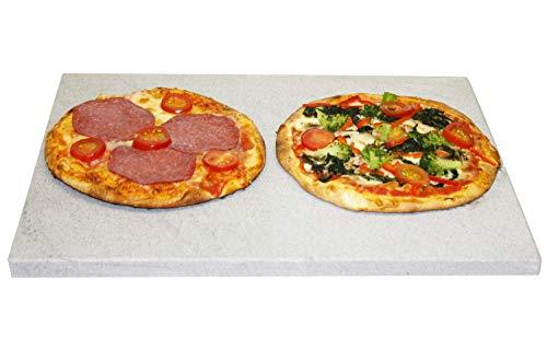 Splittprofi Pizzastein | Premium Naturstein rechteckig für Backofen Gasgrill Steinofen etc | Brotbackstein Grillstein Steakstein heißer Stein XXL