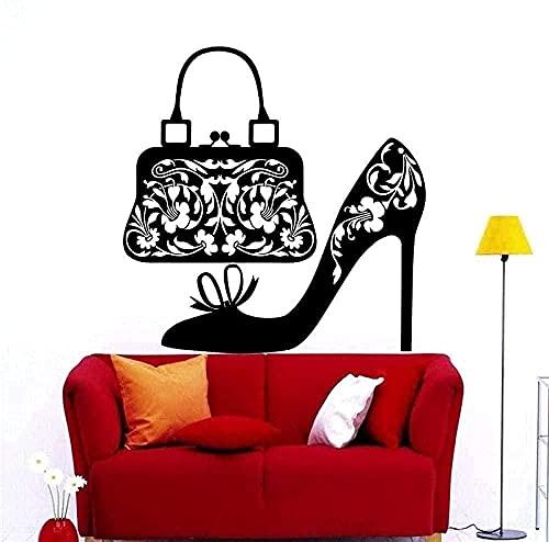 Etiqueta de la pared de moda etiqueta de la pared creativa cuerpo espejo modelo símbolo artículos femeninos 42x42 cm