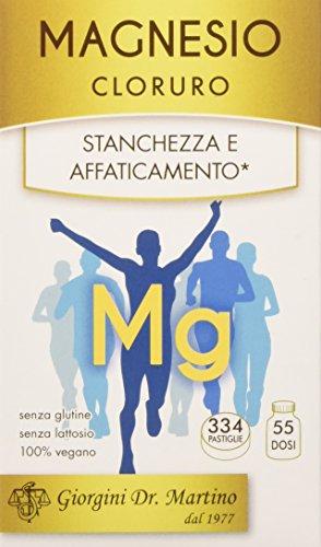 Dr. Giorgini Integratore a Base di Magnesio per il Tono Fisico, Pastiglie - 200 gr, kapseln, vegan;free from preservatives;free from synthetic dyes