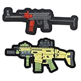 Military Ba Weapon Pattern Rubber Backpack Stickers Morale Chapter
