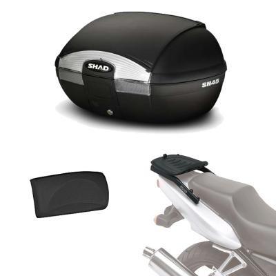 Sh45rehe106 - kit fijacion y maleta baul trasero + respaldo pasajero regalo sh45 compatible con...