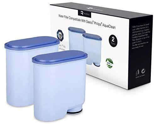 Kaffeefilter kompatibel mit Philips CA6903 / 10/00 / 01/22 / 47, Rhodesy Wasserfilter Kalkschutzfilter Filter Kompatibel mit Saeco AquaClean (2 Stück)