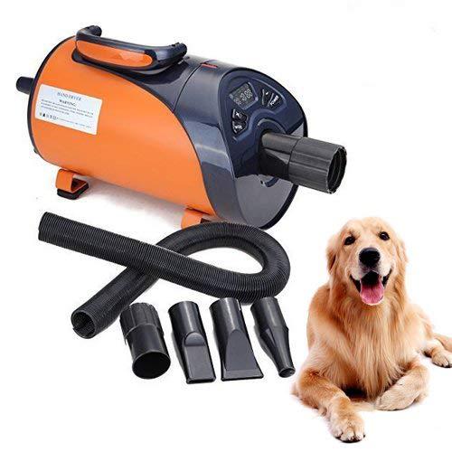 Ridgeyard Secador de Pelo para Perros y Gatos 2800W Mascotas Secador de bajo Ruido Led Pantalla 8 Niveles de Velocidad