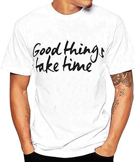 waotier Camiseta De Manga Corta para Hombre Ropa Blanca ...