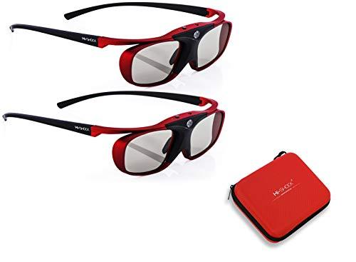 2x Hi-SHOCK Scarlet Heaven & Case | Gafas 3D activas para 3D...