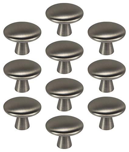 Gedotec Design pomello per mobili in metallo argento – Tara – Pomello per porta in metallo rotondo – Pomello per cassetti Ø 30 mm – Pomello per armadio e cucina – 1 pezzo