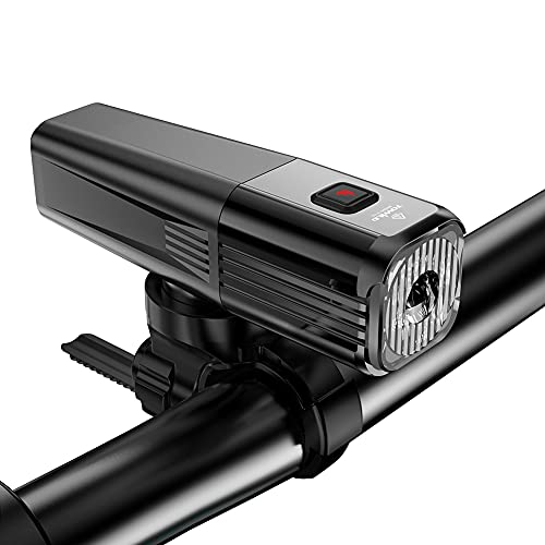 Luce anteriore della bicicletta, luce della bicicletta, ricaricabile tramite USB, impermeabile IPX6 e 2000 mAh, luci per bicicletta super capacità, per tutte le biciclette