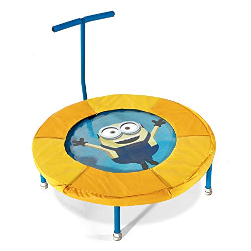 Plum Minions Junior Mini Bouncer Trampoline With Handle Sky Blue/Yellow