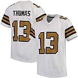 NCNC # 13 New Orleans Saints Thomas Maillots de Rugby pour Homme, T-Shirt de Football américain, vêtements de Sport de Football (s-XXXL) - Noir - Small