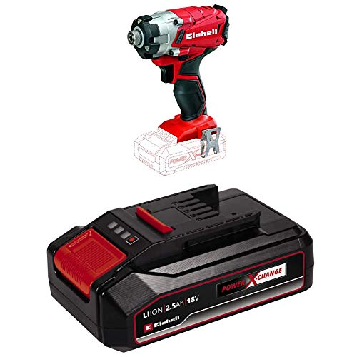 Einhell TE-CI 18 Li Solo Power X-Change Cordless Impact Screwdriver - Supplied with 2.5Ah Battery & Charger