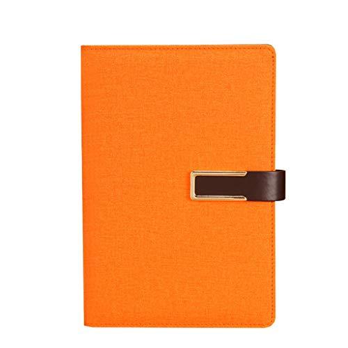 Cuadernos de taquigrafía Hebilla Cuaderno de papelería Engrosamiento A5 Cuaderno de Negocios Diario de Trabajo Superficie Dura Reunión Libro de Registro Oficina y papelería