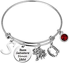 Team Damon/ Stefan/ Salvatore Since 1864 Keychain Vampire Fandom Gift Idea (Team Salvatore br)