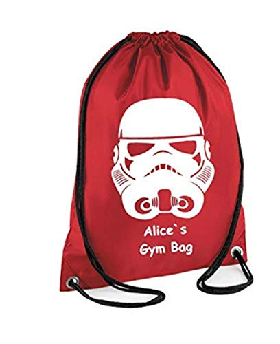 STORM TROOPER - Bolsa de cordón personalizable para niños, ideal para el colegio, gimnasio, camiseta de PE, natación, judo y danza