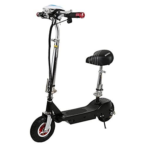 Scooter eléctrico para adultos todoterreno,eléctrico para adultos rápido de 19 mph, con asiento Scooter de 300 W Motores con pantalla LCD 36 V batería de ion de litio plegable Scooter, negro
