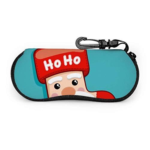 Cute Santa Claus Gift Sos Eyegs Case Kids Slim Gses Case Light Portable Neoprene Zipper Soft Case Womens Gses Case