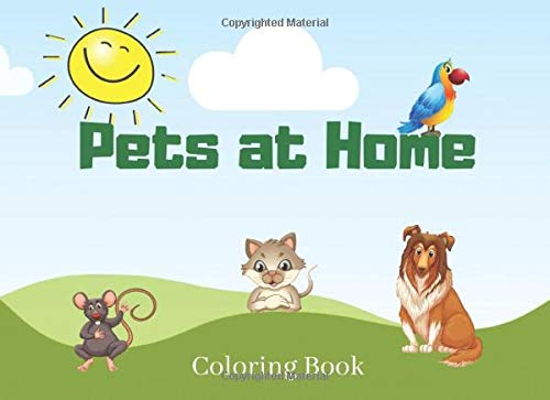Pets at Home: Coloring Book for Kids