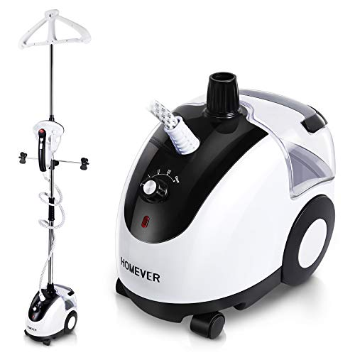 of upright fabric steamers dec 2021 theres one clear winner Homever Professional Steamer for Clothes Garment Steamer Powerful Heavy Duty Fabric Steamer 4 Steam Levels, 20s Fast Heating Continuous Steam with Self-Cleaning Function, 2.6L Water Tank