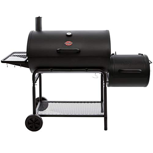 Char-Griller 1624 Smokin' Champ Charcoal Grill Horizontal Smoker in Black