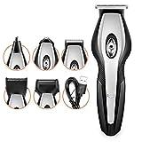 Fascigirl Cortapelos Set Carga Usb 5 En 1 Recortadora De Pelo De Nariz Afeitadora Eléctrica Para Hombres Corte De Pelo